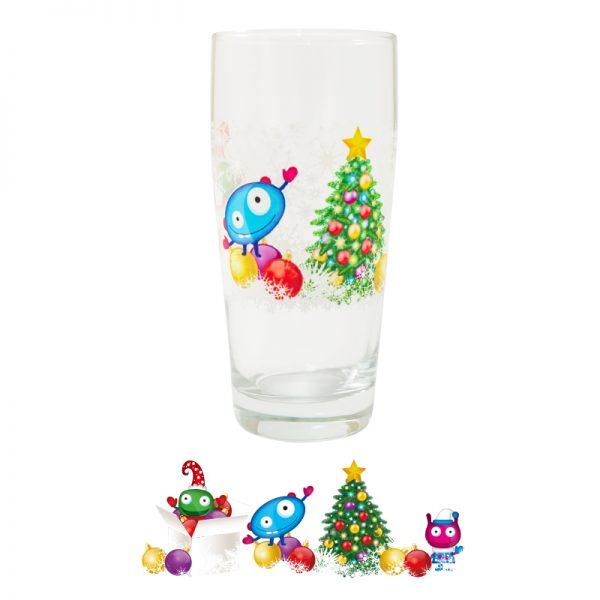 CBA Sklenička Příšerky 0,3 l Motiv Vánoce