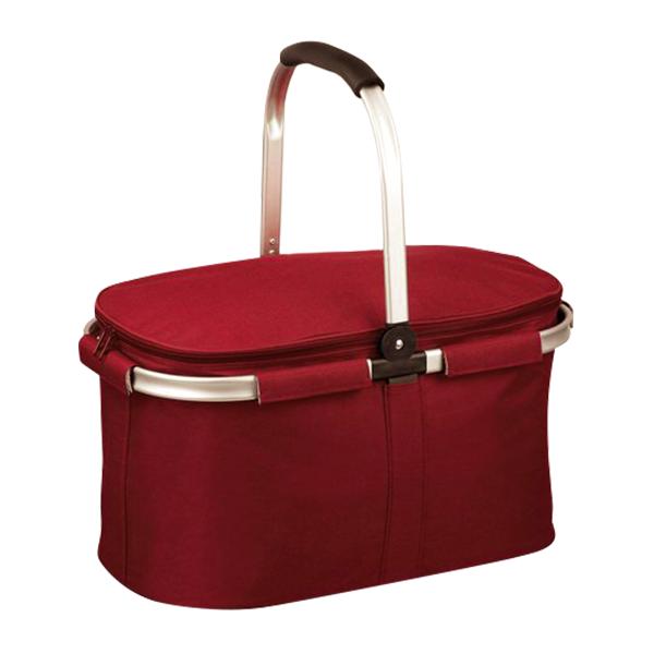 Termoizolační nákupní košík skládací červený