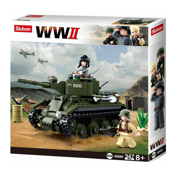 Sluban Stavebnice Sovětský tank BT7