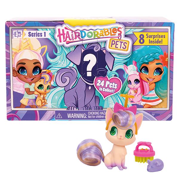 Hairdorables kouzelné panenky – mazlíčci